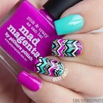 Amazing play of chevron on nails found http://www.emilydenisephotography.com/blog/. Want to try this.