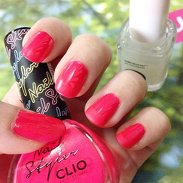 Current fave bright coral pink nail polish with matte finish French tips ❤️ #Clio Nail Styled in Rhythm Red and #Essie Matte About You top coat #clozette #beauty #nails