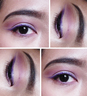Colored Eyeliners? Why Not! Mission accomplished, Sir! Tutorial: http://silvertreasure.blogspot.com/2015/07/purple-attack-revlon-love-is-on.html