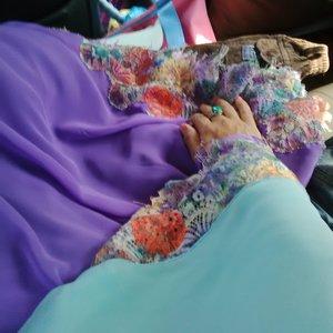 #LatePost Eid Syar'i Dress //Lavender meet Mint So Chic #ClozetteID #HOTD #SCARFMagz #EidMubarak #1436H